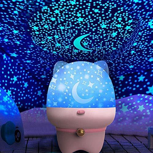 ZHENDUO スタープロジェクターライト ベッドサイドランプ プラネタリウム 家庭用 星空ライト 投影ランプ 寝かしつけ用おもちゃ 常夜灯 スターナイトライト 360度回転 投影映画 USB充電式 赤ちゃん 子供部屋 雰囲気作り 可愛い おしゃれ恋人 星