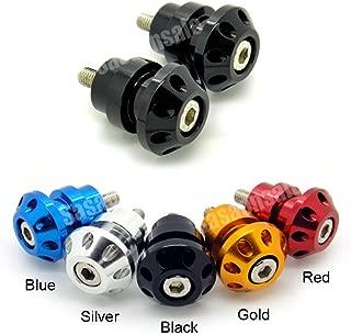 MIT Motors - BLACK - 8mm Universal Swingarm Spools - SUZUKI GSXR 600 750 1000 1300 Hayabusa, TL1000S TLS, TL1000R TLR, Bandit, SV 650
