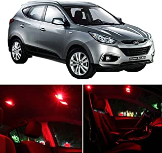 SCITOO Interior LED Lights Red Replacement Fits for Hyundai Tucson 2010-2016 Accessories Package Kit 10 Pcs