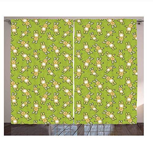 cortinas cortas para ventanas verde manzana