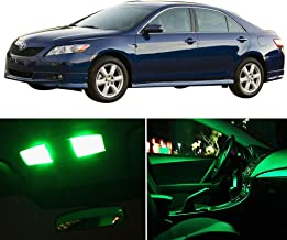 SCITOO LED Interior Lights 8pcs Green Package Kit Accessories Replacement for 2007-2011 Toyota Camry