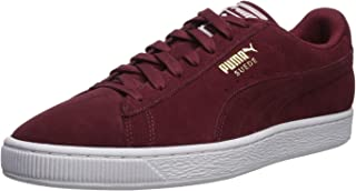 PUMA Men's Suede Classic Sneaker, Cabernet-White-Team...
