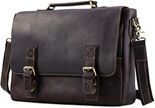 """Men's Accessories Portable Tote Bag Vintage Style Leather Business Briefcase 16"""" Netbook Tote Messenger Bag Outdoor Recreation"""