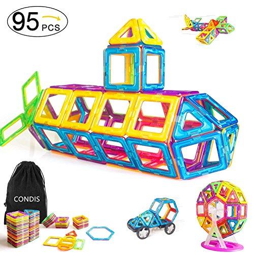 Condis 95 Piezas Bloques de Construcción Magnéticos para Niños, Juegos de...