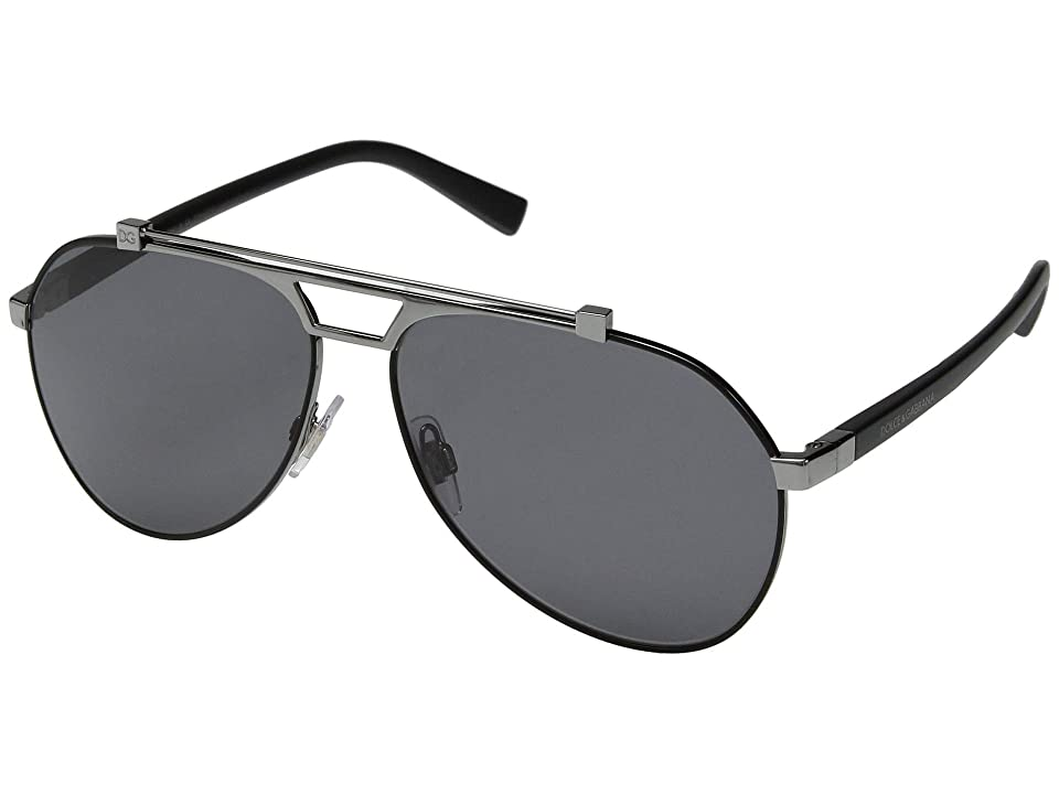 Dolce & Gabbana 0DG2189 (Matte Black/Gunmetal/Polarized Grey) Fashion Sunglasses