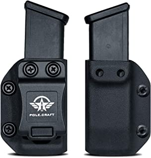 IWB/OWB Magazine Holster Kydex - Mag Carrier - For: 9mm .40 Double Stack Magazine / 9mm .40 Single Stack Magazine - P365 1911 Glock 19 19X 17 26 27 28 43 43X 22 23 25 26 27 31 32 33 34 35 37 38 .. Mag
