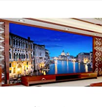 Mznm Custom 3D Photo Wallpaper Room Murals Grand Canal Night Landscape Photo Living Room Sofa Tv Background Non-Woven Wallpaper Mural-280X200Cm