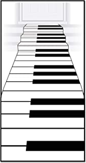 Beistle Piano Keyboard Runner, 24-Inch by 10-Feet, White/Bla