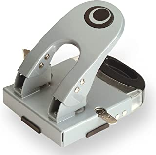 Officemate Deluxe 2-Hole Punch with Chip Drawer, 50 Sheet Capacity, Silver/Navy (90101)