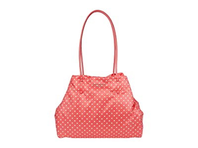Kate Spade New York Everything Puffy Dots Large Tote (Peach Melba Multi) Handbags