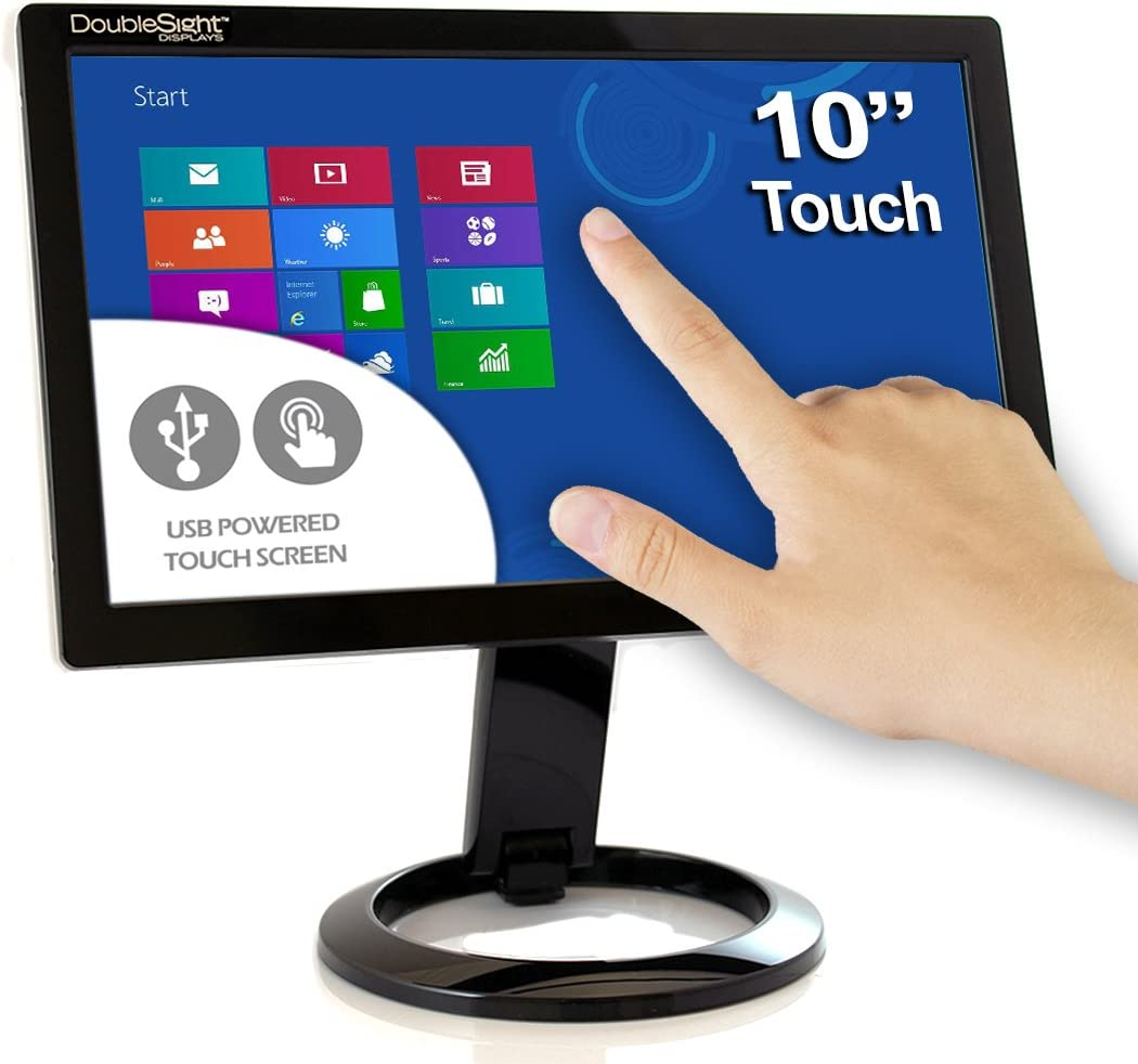 """DoubleSight Smart USB Touch Screen LCD Monitor, 8"""" Screen, Portable No  Video Card Required PC/MAC"""