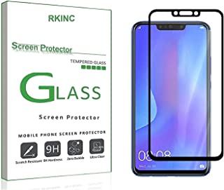 RKINC forHuawei Nova 3iScreen Protector, [1 Pack] Full Coverage Tempered Glass Clear Screen Protector [9H Hardness][3D Round Edge][0.33mm Thickness] for Huawei Nova 3i, Black