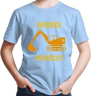 Hariz – Camiseta para niño, diseño de excavadora, para niños, vehículos, cumpleaños, tarjeta de regalo