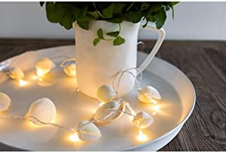 Ivory House LED Garland with Shells