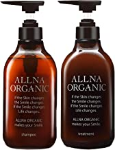 Shampoo Set: ALLNA Organic, additive-free, Silicone-free, Amino acidic shampoo and wash-off treatment with 23 types of botanical extracts, and contain collagen, hyaluronic acid, and vitamin C derivative ceramide; 16.9 fl oz & 16.9 fl oz (500 ml &