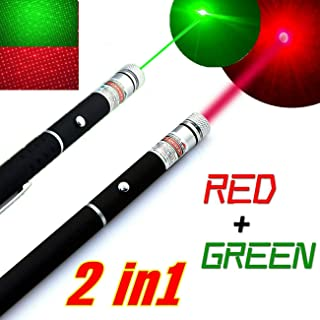 2 Pens Red Green Ultra Bright Outdoor Camping Lighting Supplies Cat Toys with pet Artifacts USA