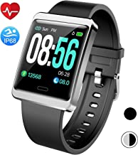 Mgaolo Smart Watch Fitness Tracker,Activity Tracker Smartwatch with Change Brightness Screen,IP68 Swimming Waterproof Fit Watch Wristband with Heart Rate Sleep Monitor for Android & iPhone (Silver)