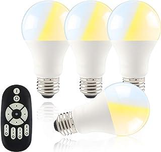 共同照明 【4個セット】共同照明 LED電球 60w形 E26 調光 調色 リモコン付き GT-B-9WT2-4B-Y led照明 リモコン 遠隔操作 9w led 60W 昼光色 昼白色 電球色 常夜灯 広配光タイプ 省エネ