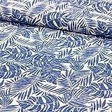 Stoff Meterware Damenstoff Blusenstoff aus Baumwolle Pina - 50cm x 145cm - verschiedene Muster zur Auswahl (Palmblätter)