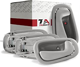 T1A Set of 4 Interior Door Handles Replacement for 1998-2002 Toyota Corolla and Chevy Prizm, Fits Front and Rear Left Driver's and Right Passenger's Sides, Gray Color, T1A-69205-02050-C0-4set
