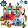 VATENIC Kids Magnetic Building Blocks Set 120PCS 3D Color Magnet Tile Magnetic Blocks Toys for Kids Children,Educational Learning Toys Birthday Gifts for Boys Girls Age 3 4 5 6 7 8 9 10 Year Old