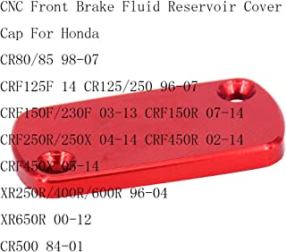 JHMOTO Brake Master Cylinder CNC Front /& Rear Tapa de dep/ósito L/íquido de Freno para Honda CR CRF Suciedad Pit Bike