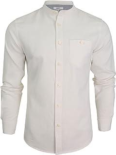 Xact Long Sleeved Linen Grandad Nehru Shirt