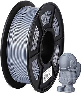ANYCUBIC 3Dプリンター用 造形 フィラメント pla 高品質 1.75mm寸法精度+/- 0.02 mm 高密度 環境保護 純正材料 銀色【正味1kg】(シルバー)