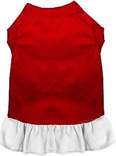 فستان بدون زخرفة للحيوانات الأليفة من ميراج بت برودكتس، مقاس متوسط، لون أحمر وأبيض