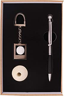 Msa Jewels Roller Ball Pen With Key Chain Golf Set & Pen Holder For Gift