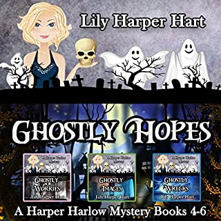 Ghostly Hopes: A Harper Harlow Mystery Books 4-6 audiobook cover art