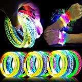 TURNMEON 20 Pack Glow Sticks Bracelet Party Supplies Glow in The Dark, LED Bracelet Light Up Toys Neon Party Favor for Carnival Birthday Wedding Halloween Party Supplies Favors