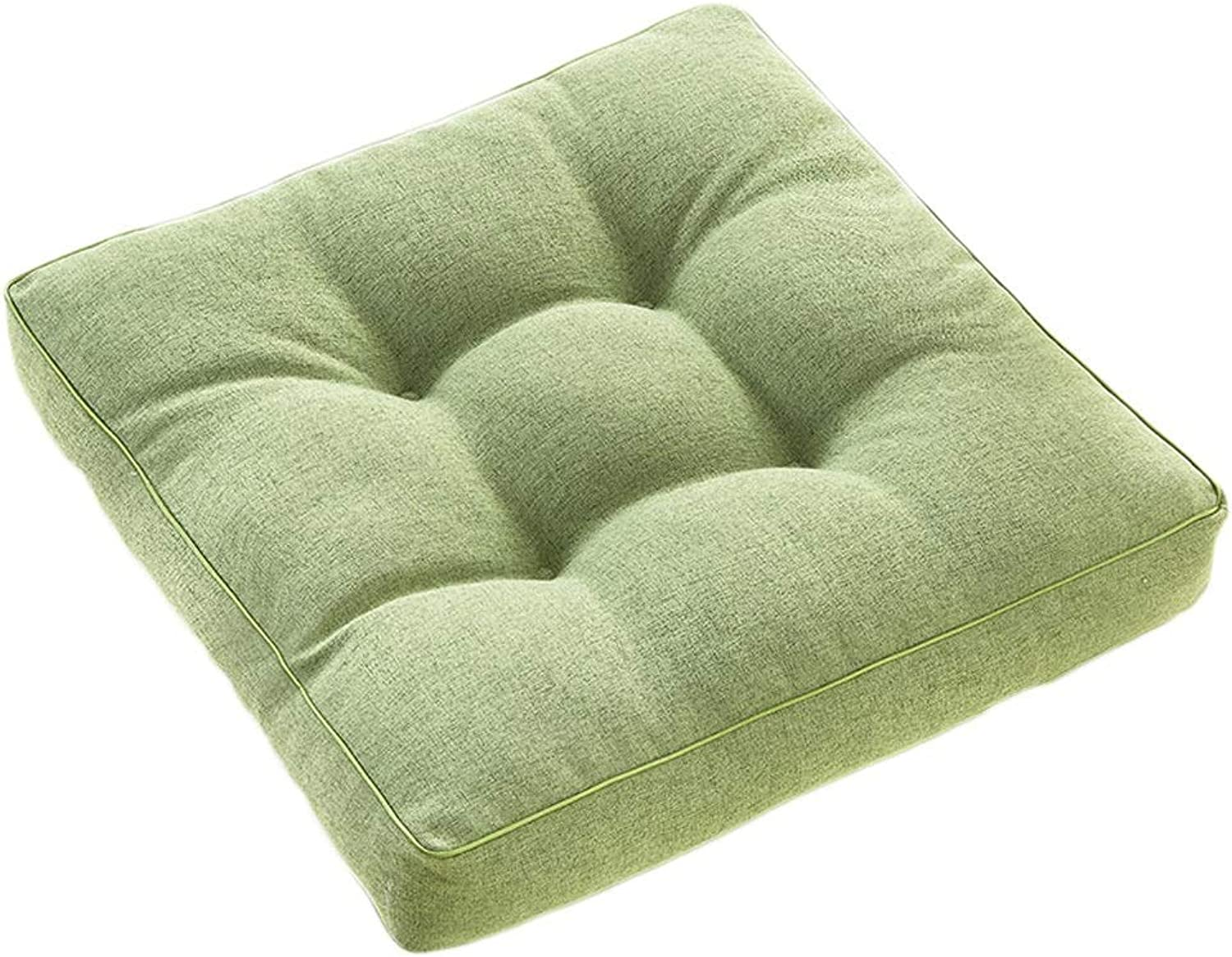 Seat Cushion Seat Cushion Green Flax Cushion Thicken Student Chair Cushion Sofa Office Chair Lumbar Support Four Seasons Available Soft and Comfortable Chair Pad (color   B, Size   40  40  8cm)