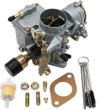 KIPA Carburetor For VW Bettle Squareback Transporter 37mm 37 PICT-3 12V Electric, Replace OEM Part Number 113129031K, 98-1289-B, With Mounting Gasket & Carbon Dirt Jet Cleaner Tool Kit