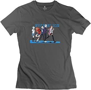 Women Neon Genesis Evangelion T-Shirt Slim Fit Retro
