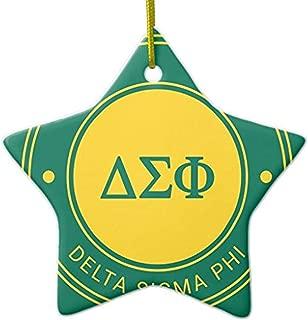 Cheyan Delta Sigma Phi   Badge Ceramic Ornament Star