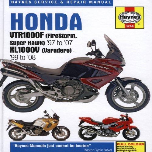 Honda VTR1000F (Firestorm Super Hawk) 97-07m JK1000V 1999-08 (Haynes Service & Repair Manual)