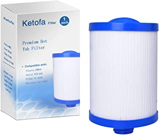 FC-0359 Spa Filters Replacement Cartridges Compatible with Unicel 6CH-940, Filbur FC-0359, Pleatco PWW50, Waterways 817-0050 Front Access Skimmer, 45 Square Foot Top Load Aber Hot Tubs