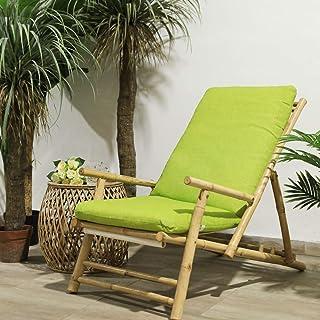 TIENDA EURASIA® Cojines para Sillas de Terraza - 10 Colores - Cojín Acolchado Relleno de Fibra - Medidas 120 x 50 x 10 cm (Verde Pistacho)