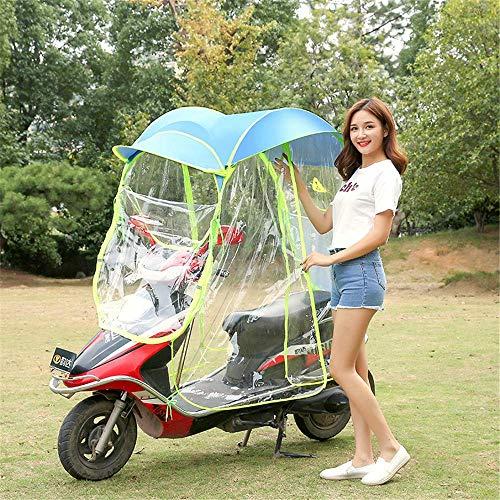 Fundas para motos Cubierta universal para sombrilla eléctrica para motocicleta, sombrilla para scooter de motor completamente cerrada, sombrilla y cubierta para lluvia impermeable, A, sin espejo retr