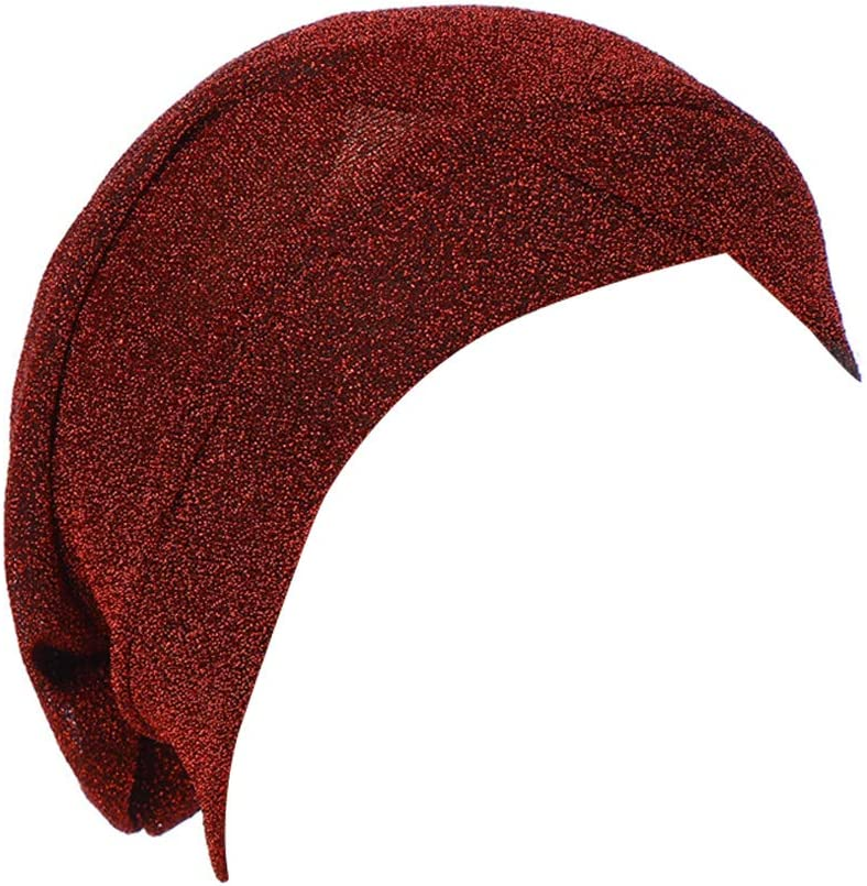 ieasysexy Women India Turban Hat Solid Color Stretch Chemo Cancer Hairloss Wrap Beanie Hijab Cap Muslim Headwrap Cover