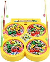 Vikas Gift Gallery Battery Operated Fish catching Game 2 - 4 Players Game with 4 Pools Multicolor