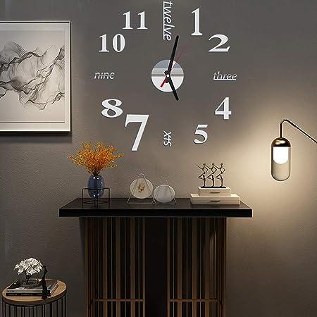 3D DIY Pendule Murale Moderne Acrylic Material Horloge de Salon D/écoration