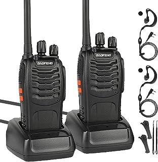 Baofeng Walkie Talkie Recargable 16 Canales 1500 mAh Walkie Talkie con el Auricular Incorporado Antorcha de LED