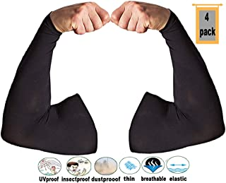 MAYOUTH UV Protection Cooling Arm Sleeves for Men & Women Sunblock for Golf, Cycling, Driving, Running, Basketball,armwarmer Good Gift Great Present