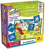 Lisciani Giochi- Carotina Quadrotte Tombola Ambienti Lessicali Gioco Educativo Prescolari, Multicolore, 87501