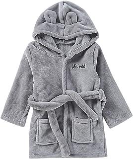 Infant Baby Boys Girls Flannel Robe Soft Long Sleeve Hooded Bathrobe Warm Pajamas  Sleepwear with Belt 810a1120c