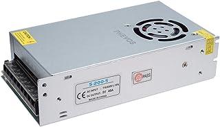 PHEVOS 5V 200watt DC Universal Regulated Switching Power Supply Brass Material Transformer AC 110V to DC 5 Volt for CCTV, ...