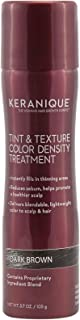 Keranique Tint & Texture, Color Density Treatment, 3.7 Fl Oz, Dark Brown - Instant Body, Volume and Lift to Thinning Hair, Helps Reduce Oil and Sebum - Advanced Treatment for Thinning Hair