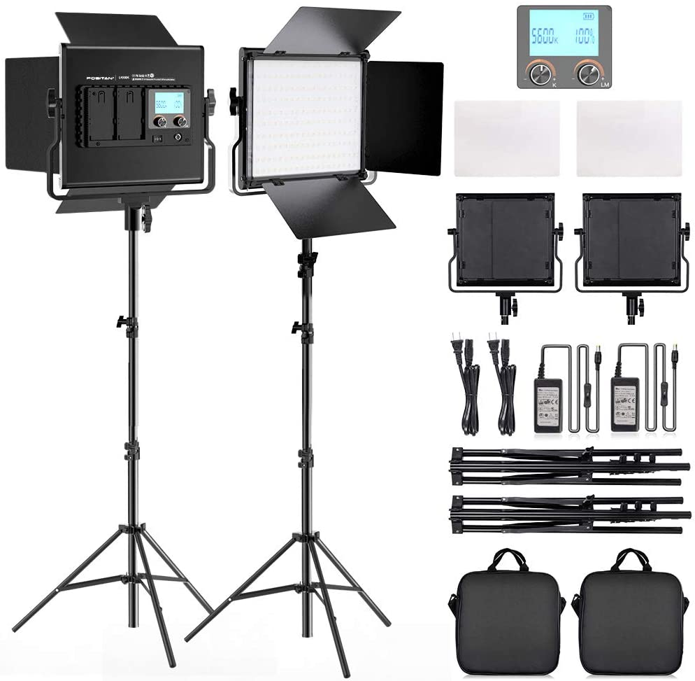 FOSITAN 2 Kits Bi-Color LED Lighti Super price Special SALE held LCD Light Video Display